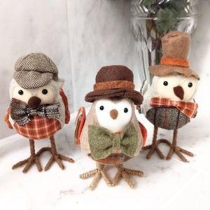Autumn/ Thanksgiving fabric bird figures